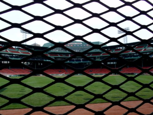 View of Fenway Park from The Bleacher Bar (copyright Delia Cabe June 2009)